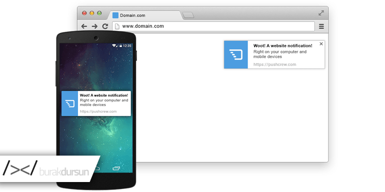 Chrome Push Notification, native js, Chrome Push Notification Native JS